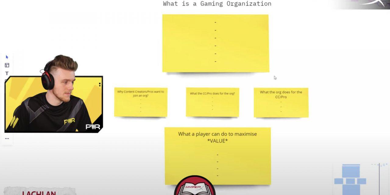Lachlan donne un cours accéléré sur la façon de devenir pro et de rejoindre une organisation.