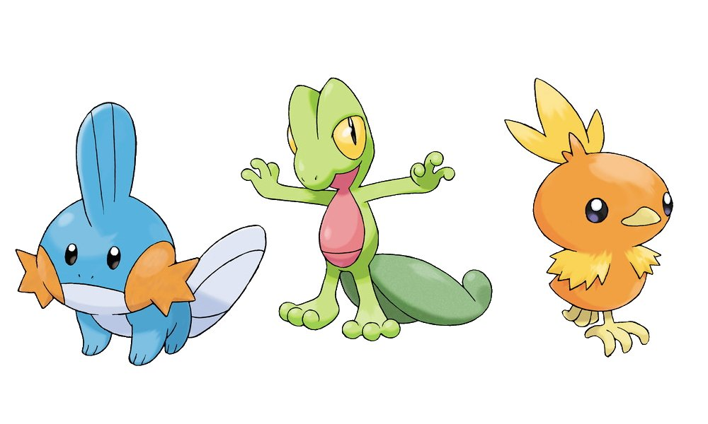 Best Pokemon starters ranked gen 3