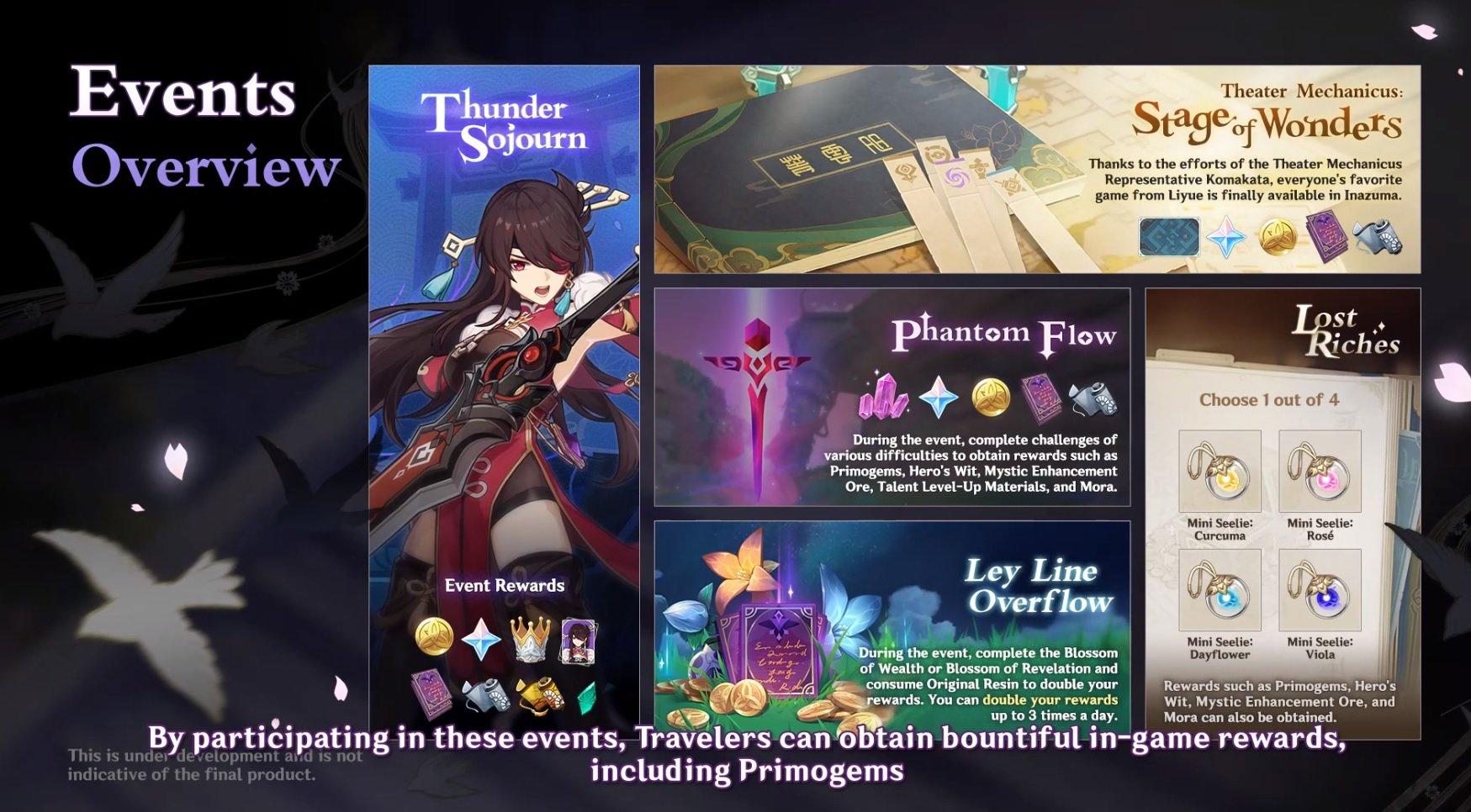 Genshin Impact 2.0 inazuma events