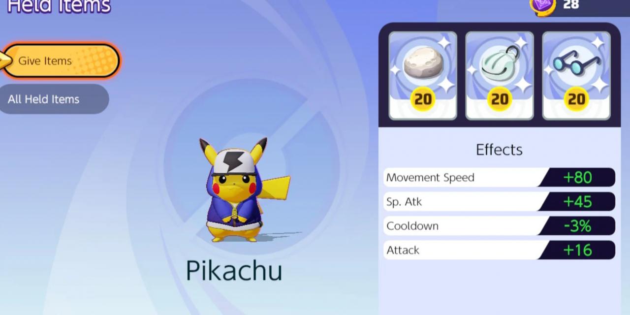 Pokemon Unite : Comment améliorer les objets détenus le plus rapidement possible.