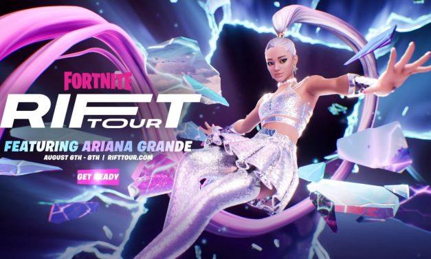 Fortnite Ariana Grande Rift Horaires et dates de la tournée