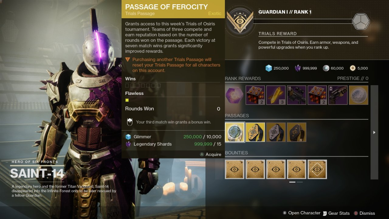 Trials of Osiris changes destiny 2 season of the lost