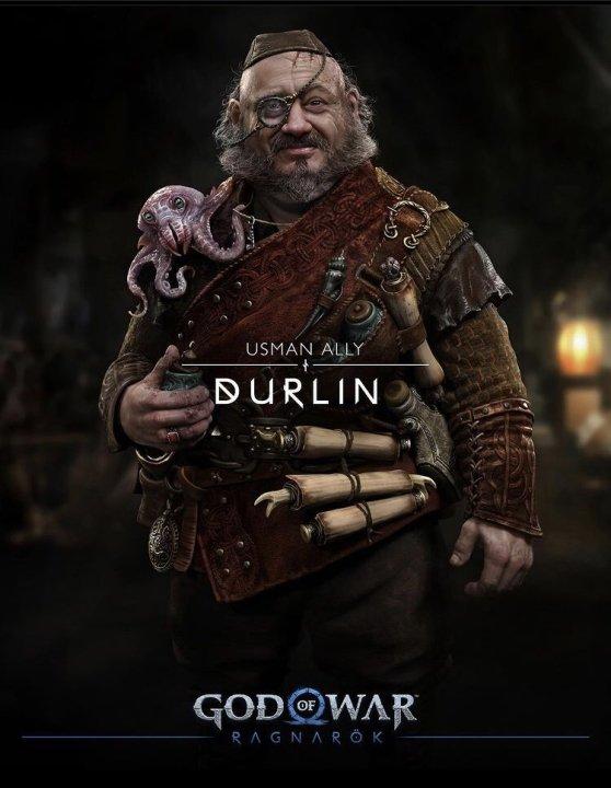 God of war cast characters voice actors durlin