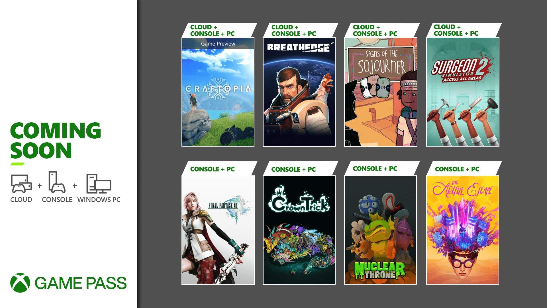 Xbox Game Pass september games 2021